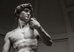43666206 - david by michelangelo in galleria dell'accademia uffizi museum, florence. italy.