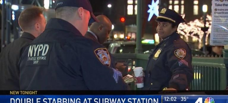 紐約地鐵又出現持刀傷人,兩名無辜乘客被捅傷鮮血直流