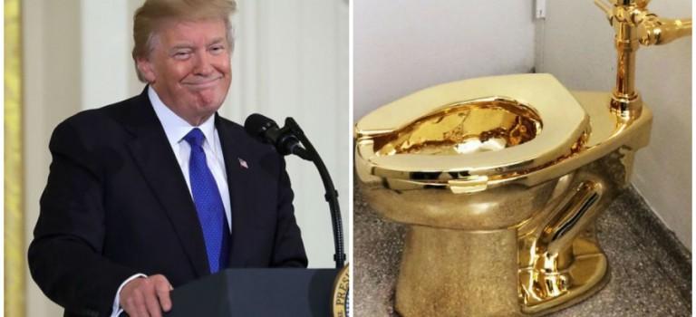 """紐約古根漢姆博物館霸氣 diss 川普!""""想借畫沒門,送你一個黃金馬桶去玩吧!"""""""