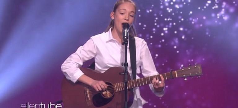 【影片】下一個 Adele!!12歲愛爾蘭小姑娘驚艷亮相 Ellen Show,全程雞皮疙瘩狂掉!
