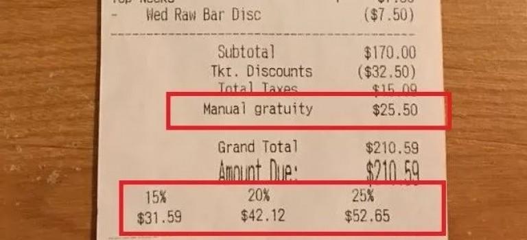 警惕狡猾餐廳! 帳單陷阱多,以後別再傻傻多付2倍小費!