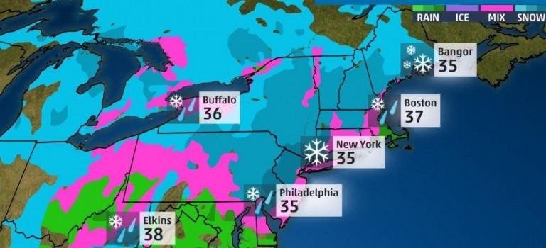 遲到的大風暴雪終於來了!MTA神預測!今天早點回家~