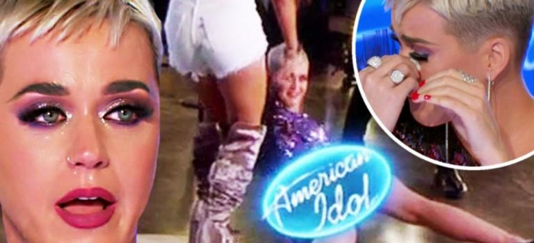 Katy Perry 跳熱舞又摔了!裙子太緊怕走光,趴在地上起不來😂😂