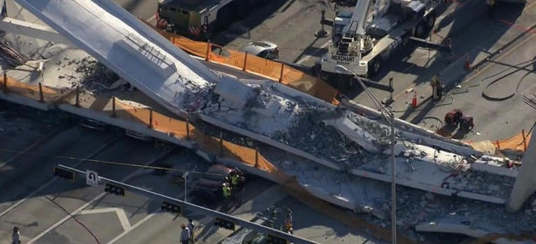 佛州天橋坍塌瞬間監控錄像曝光:飛來橫禍造成至少6人死亡,死者面目全非