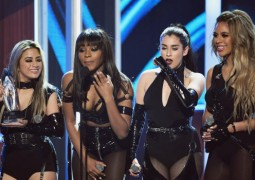 LOS ANGELES, CA - JANUARY 18:  (L-R) Singers Ally Brooke, Normani Kordei, Lauren Jauregui, and Dinah Jane of Fifth Harmony accept Favorite Group onstage during the People's Choice Awards 2017 at Microsoft Theater on January 18, 2017 in Los Angeles, California.  (Photo by Kevin Winter/Getty Images)