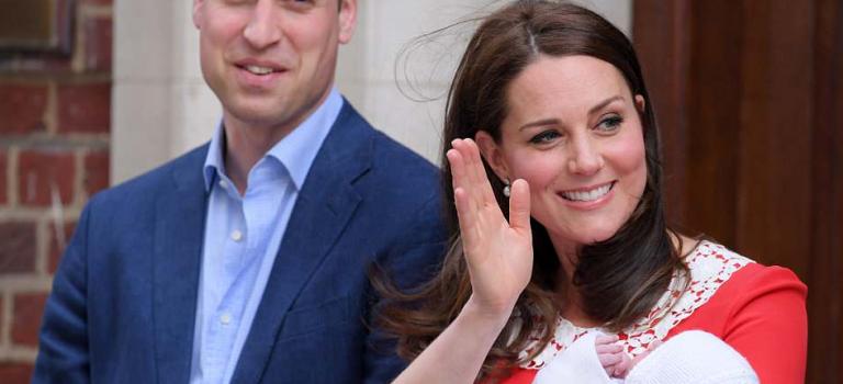 英國王室再迎小王子,超人王妃產後立即與新生兒一同現身!