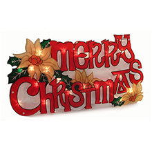 Merry Christmas Window Sign