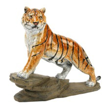 Tiger on Rock Figurine