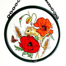 Playtime Poppies Stained Glass Roundel