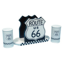 Route 66 Napkin & Salt-&-Pepper Holder