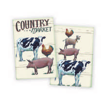Country Market Tea Towels