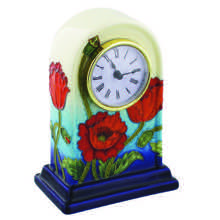 Tube-Lined Ceramic Poppy Clock