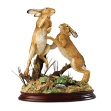 Boxing Hares by Border Fine Arts