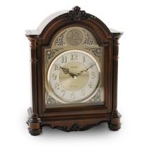 Tempus Fugit Wood Mantel Clock