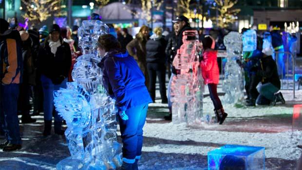 冬季爆炸雕塑