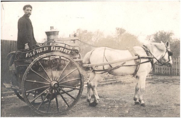 milkman photos, vintage milkman photos, old photos milkmen, milkmen carts
