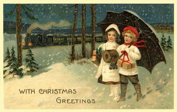 vintage christmas postcards, old christmas postcards, antique christmas