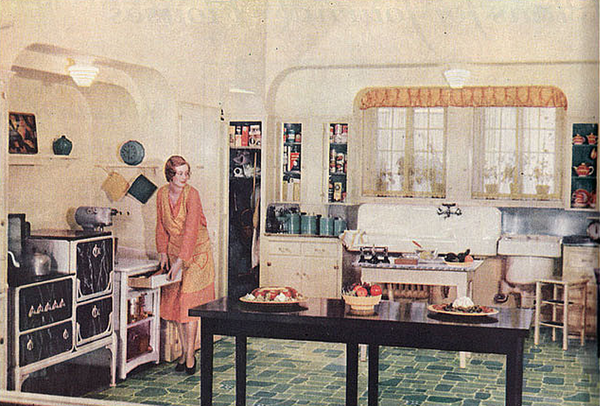 vintage kitchen photos, old kitchens, 19th century kitchens, kitchens 1920s