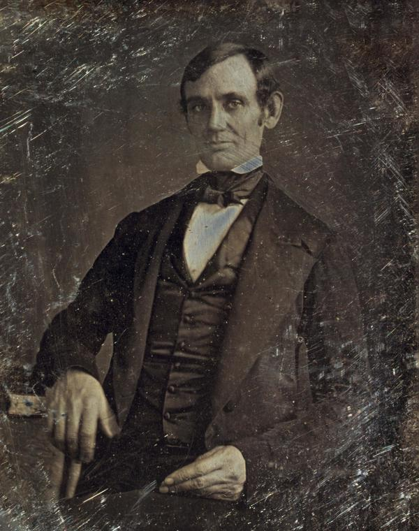 1846 Abraham Lincoln photo, first lincoln photo, abraham lincoln daguerrotype