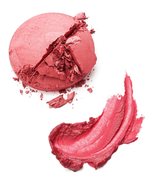 fix broken eye shadow cracked powder or blush and melted lipstick