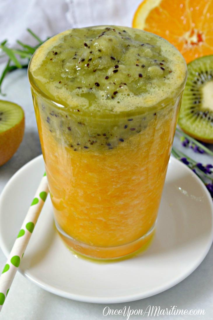 Healthy Skin Smoothie - Fresh Kiwi and Orange Nutrient Dense Treat
