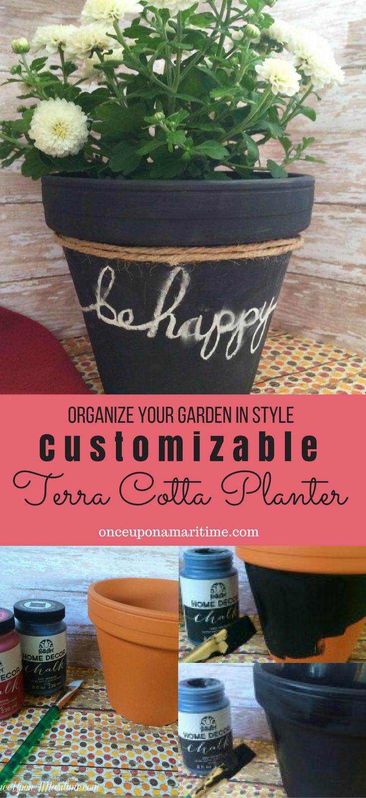 DIY: Customizable Terra Cotta Planter - Organize Your Garden In Style