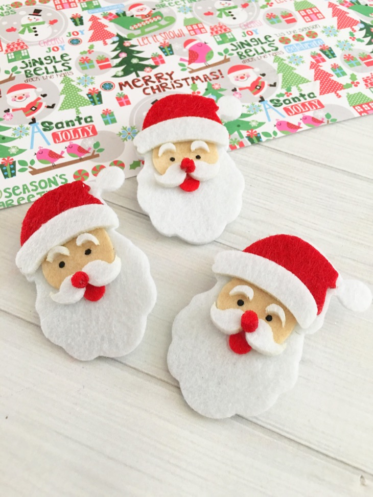 DIY: Santa Hair Clips - A Fun Holiday Gift