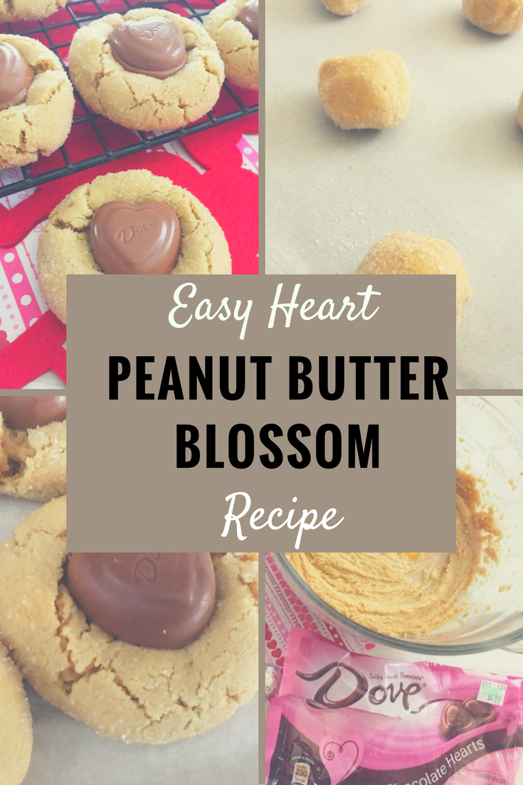Last Minute Valentine's Day Recipe: Yummy Heart Peanut Butter Cookie Blossoms