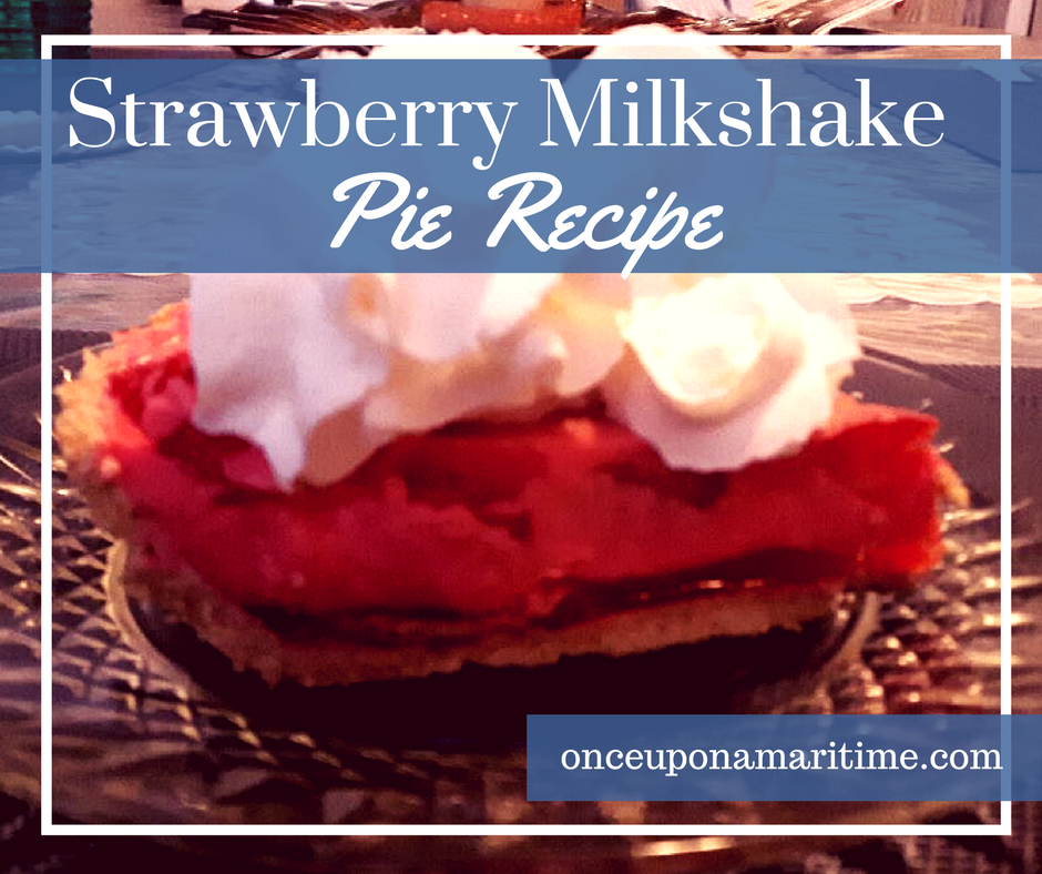 Strawberry Milkshake Pie Recipe - From Cristie's Kitchen