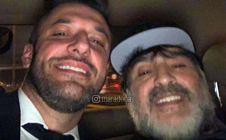 Diego Maradona junto a Matías Morla