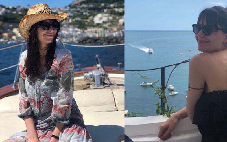 Romina y los espectaculares paisajes de Italia.