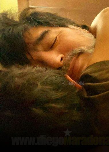 La última siesta con Dieguito Junior.