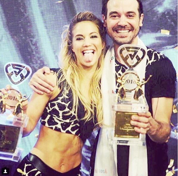 Con Vigna ganaron el Bailando en 2016.