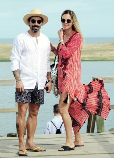 Yanina y Lavezzi, abonados a la temporada de Punta