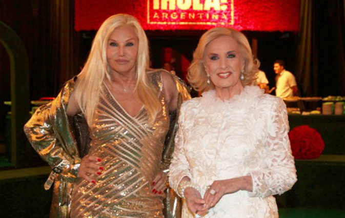 Susana y Mirtha, otra de las morosas...
