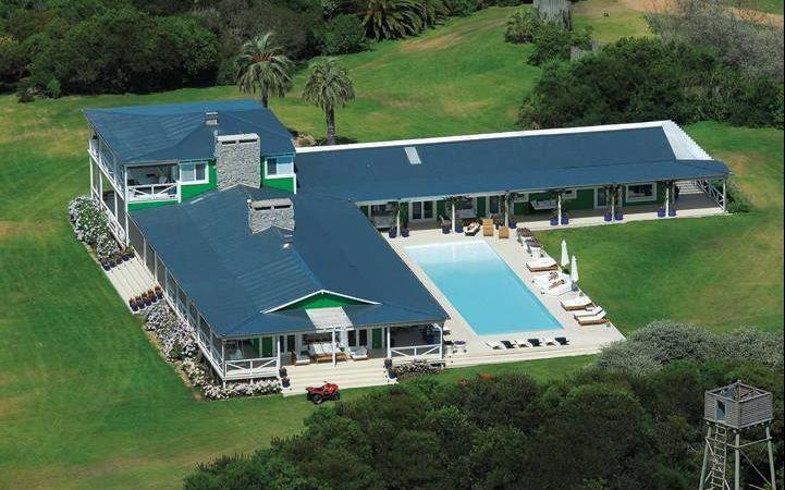 La mansión donde pasan las vacaciones