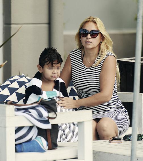 Ojeda está siempre detrás de su baby.