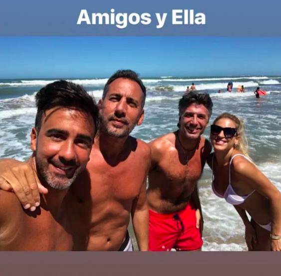 Fede viajó a Mar del Plata para visitarla.