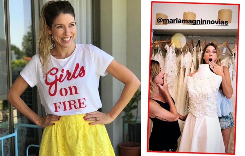 Flor Bertotti se mostró con un vestido de novia.