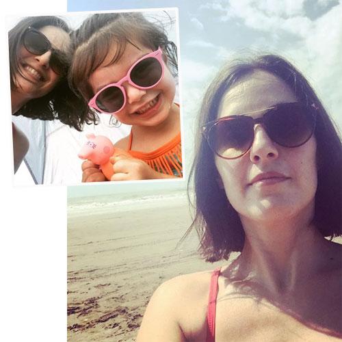 Julieta Díaz y Elena disfrutaron de unos días en la Costa.