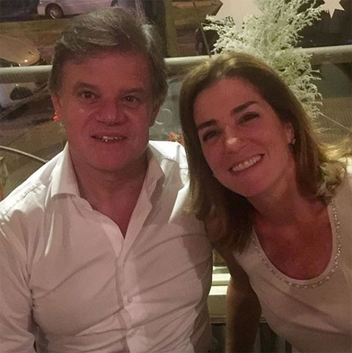 Enrique y Débora, durante los festejos de Navidad.