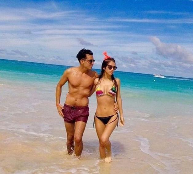 La pareja viajó por el Caribe hace poco tiempo.