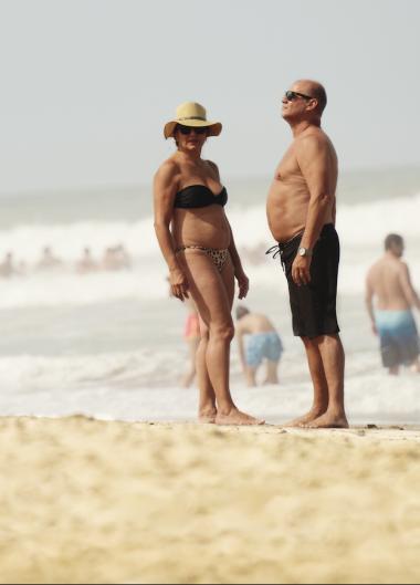 El Chino junto a su mujer Mirta