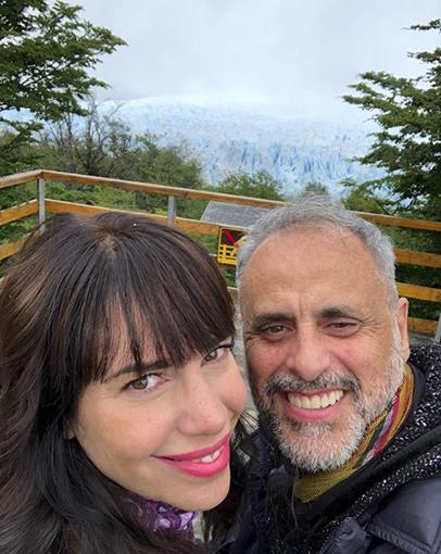 Jorge y Romina, súper in love.