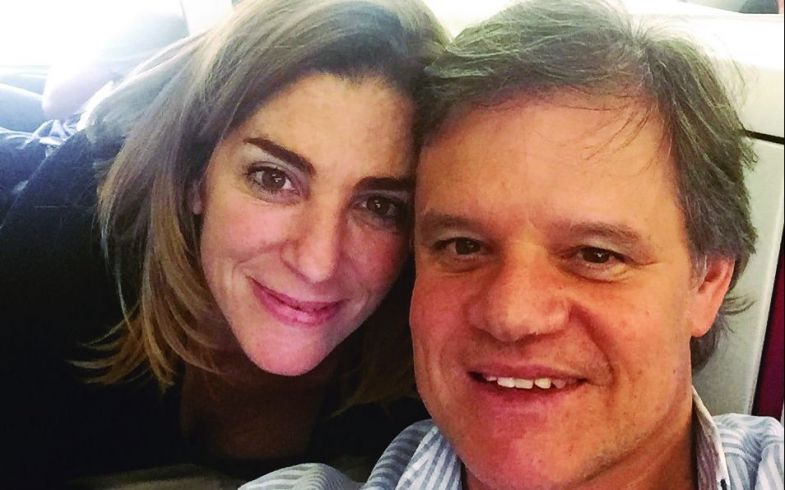 Débora Perez Volpin y su pareja