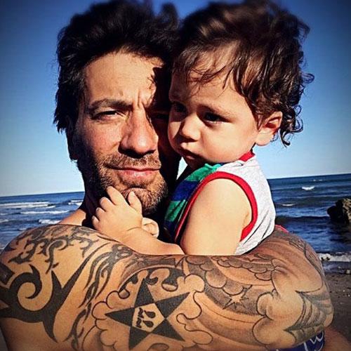 Gustavo y su bello hijo, Félix.