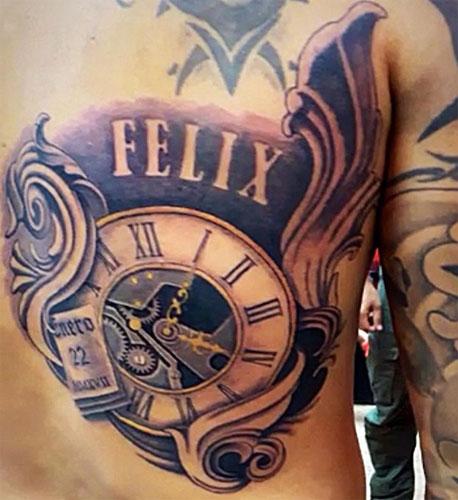 El tatuaje que Gustavo le dedicó a Félix.