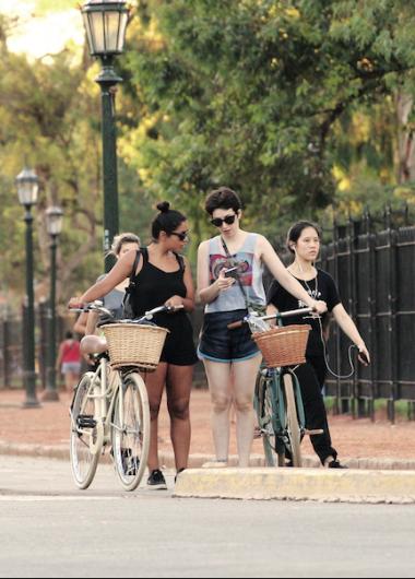 Un paseo en bicicleta por el Rosedal