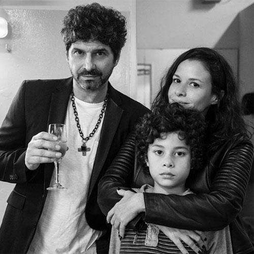 Benito y Julieta junto al cumpleañero, Iván.