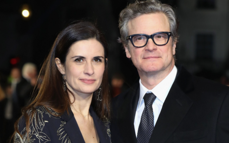 Colin Firth y su mujer